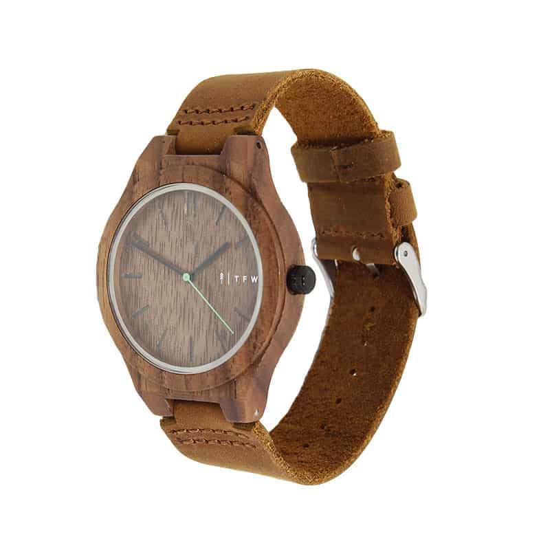 Reloj IGRIS de cuero por TIME FOR WOOD
