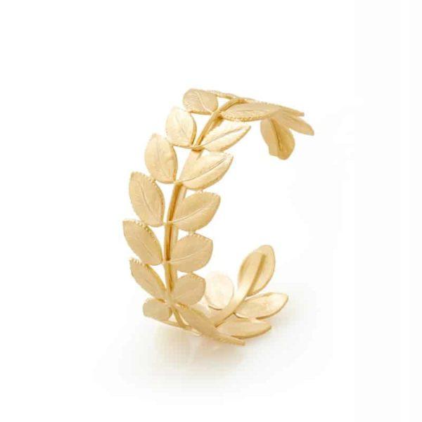 cuff ambre gold woman fashion jewellery bracelet paris handmade