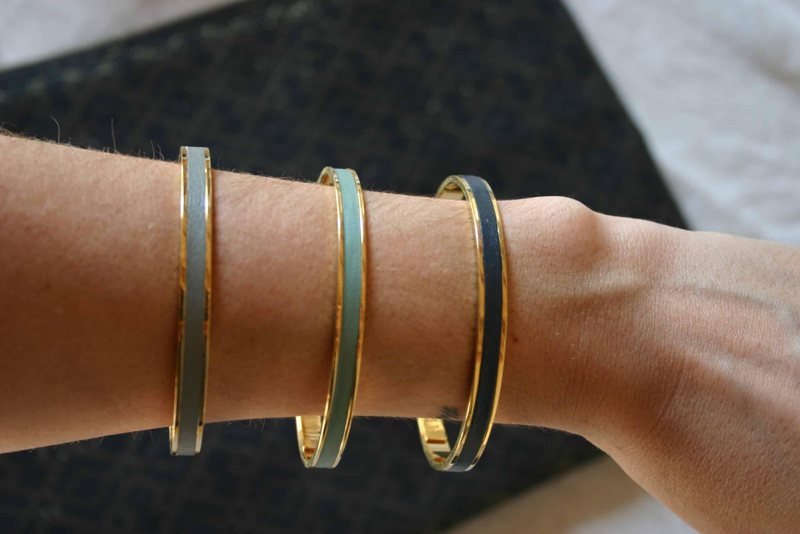 leather jonc bracelet woman fashion jewellery handmade coralie de seynes