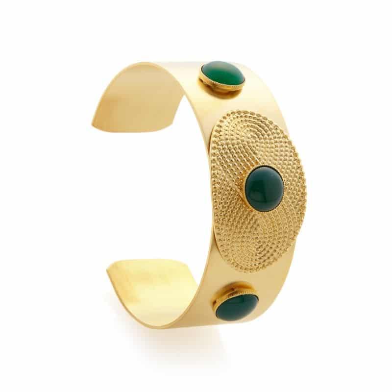 manchette bracelet zeus collection constance bijou or femme accessoire mode
