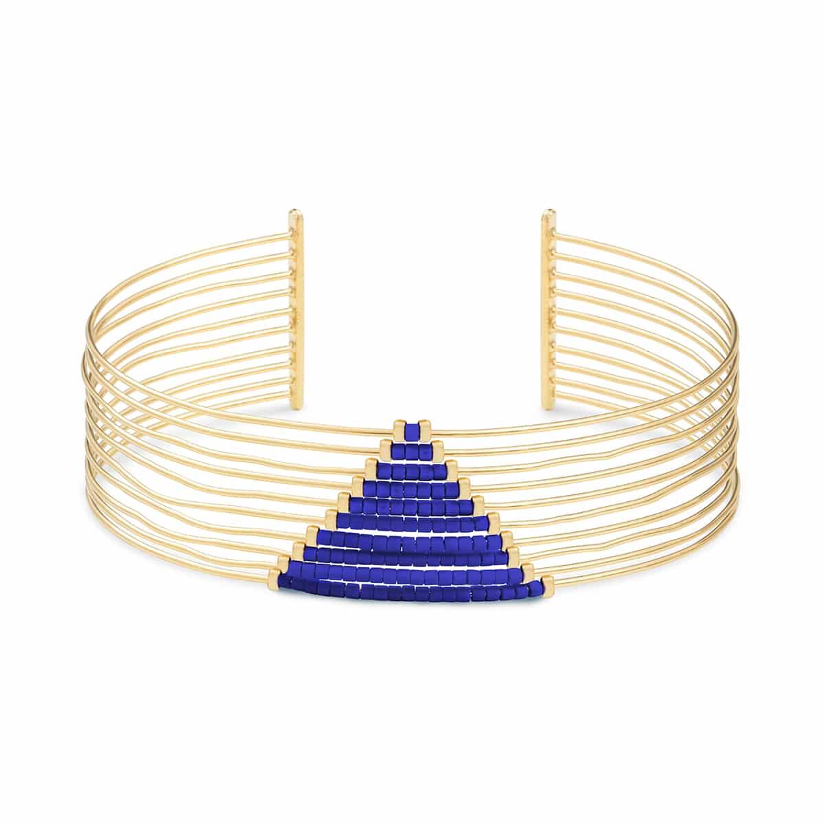 mirage bdm paris puño pulsera oro fino hecho a mano moda complementos mujer joyas