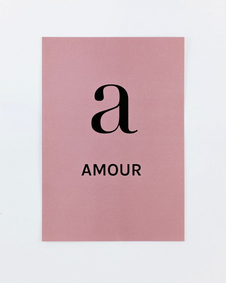Print A for Love by FRENCH WORDS