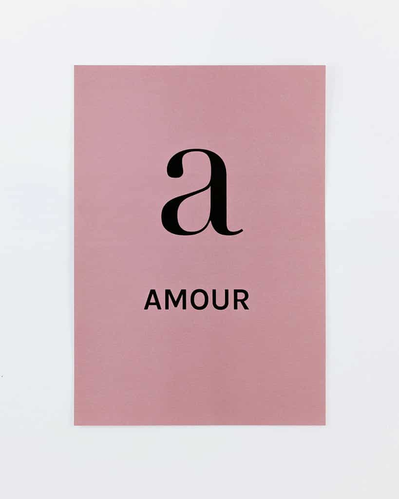 "Affiche ""A Amour"" par FRENCH WORDS"