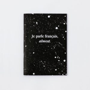 notebook je parle français french write words