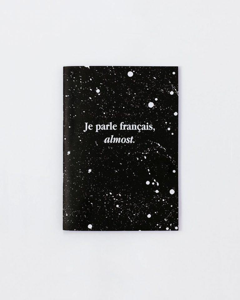 notebook je parle français french write words