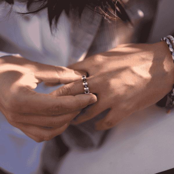 anillo jaipur plateado