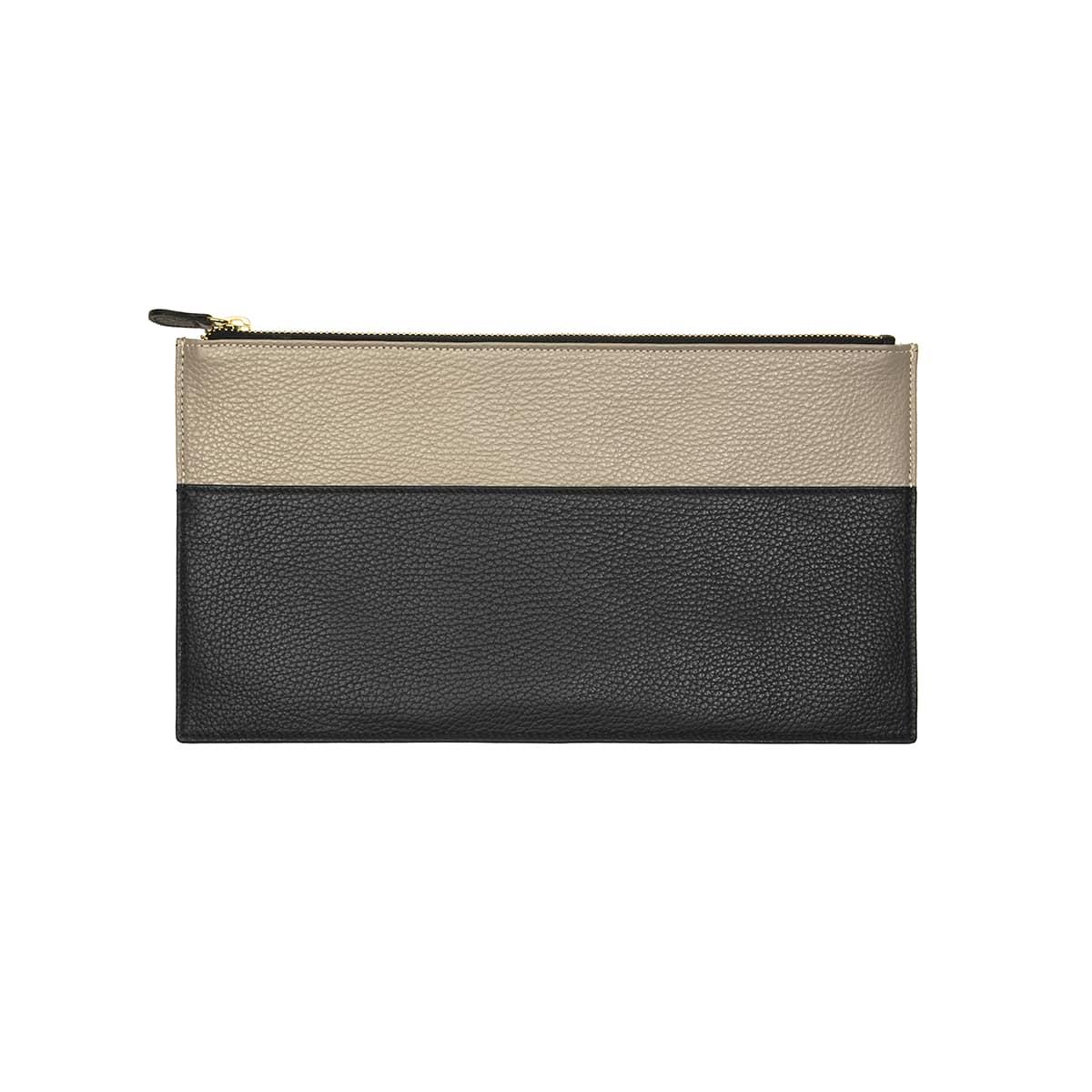 pochette plate cuir handmade coralie de seynes L'Erudite Concept Store