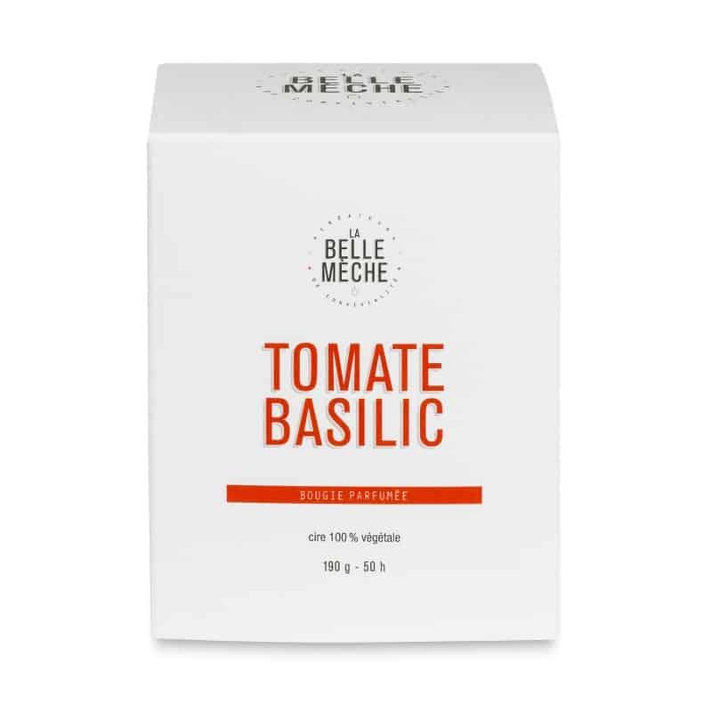 bougie parfumée tomate basilic la belle meche cire soja naturelle