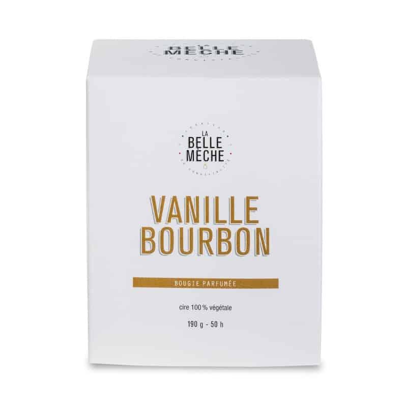 bougie parfumée vanille bourbon la belle meche cire naturelle soja