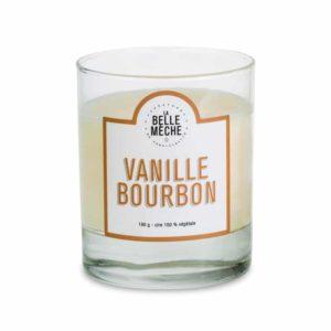 vainilla bourbon vela perfumada grasse la belle meche natural soy cera algodon