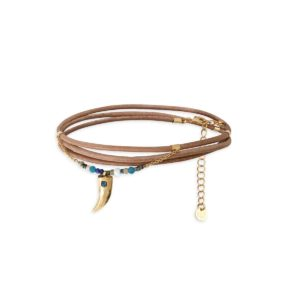 wild leather bracelet woman fashion bdm studio handmade in paris