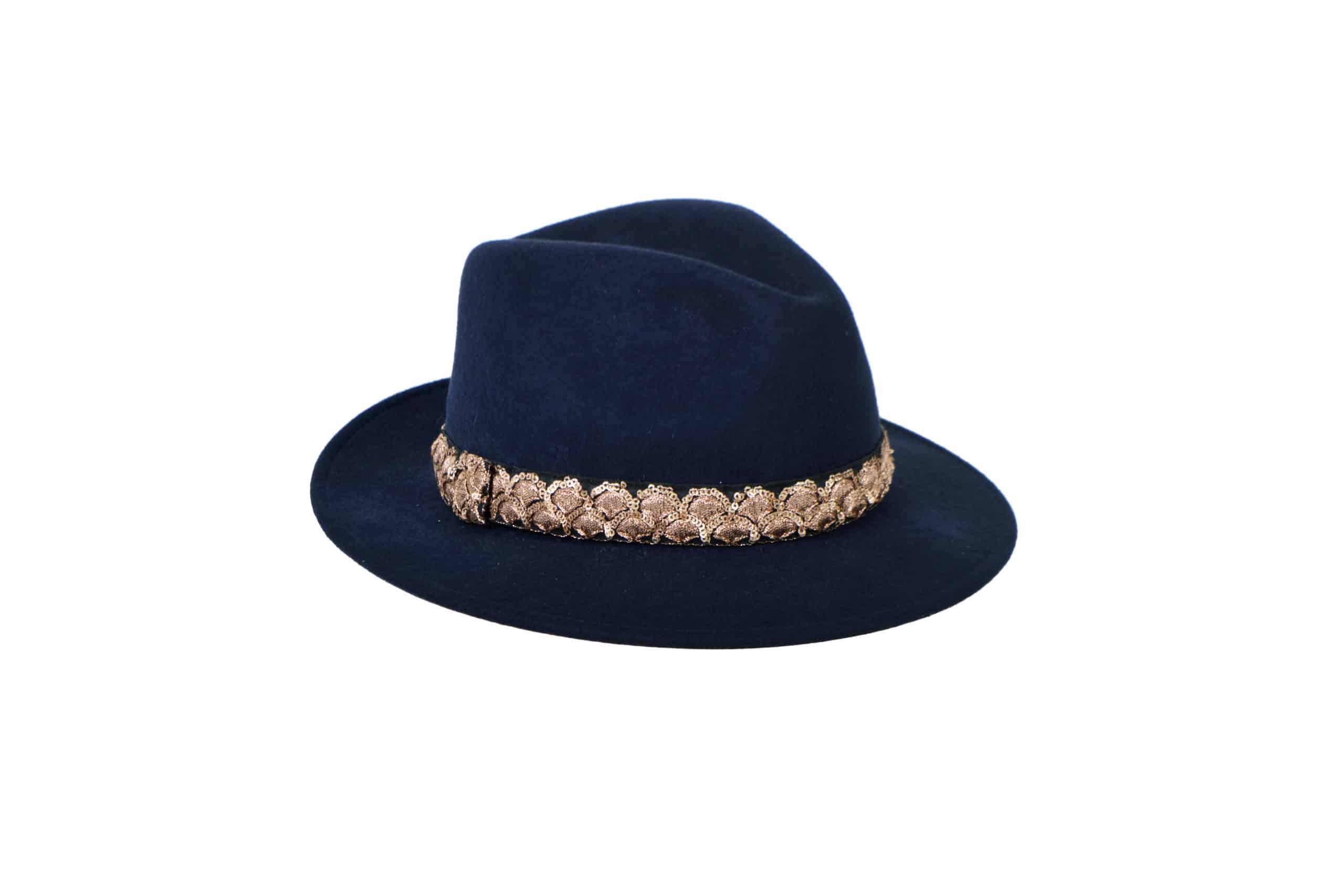 Sombrero borsalino Sasha Noche por MARADJI