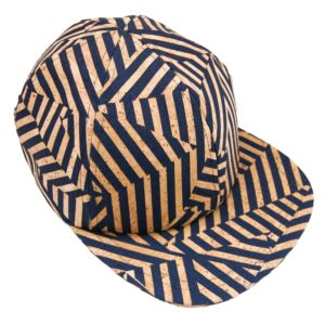 Zebra cap in denim and cork leather Basus
