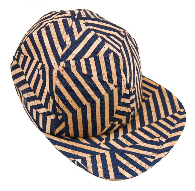 Zebra cap in denim and cork leather Basus