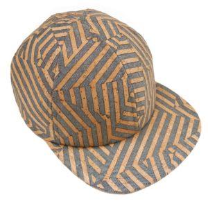 cap cork flat visor basus leather