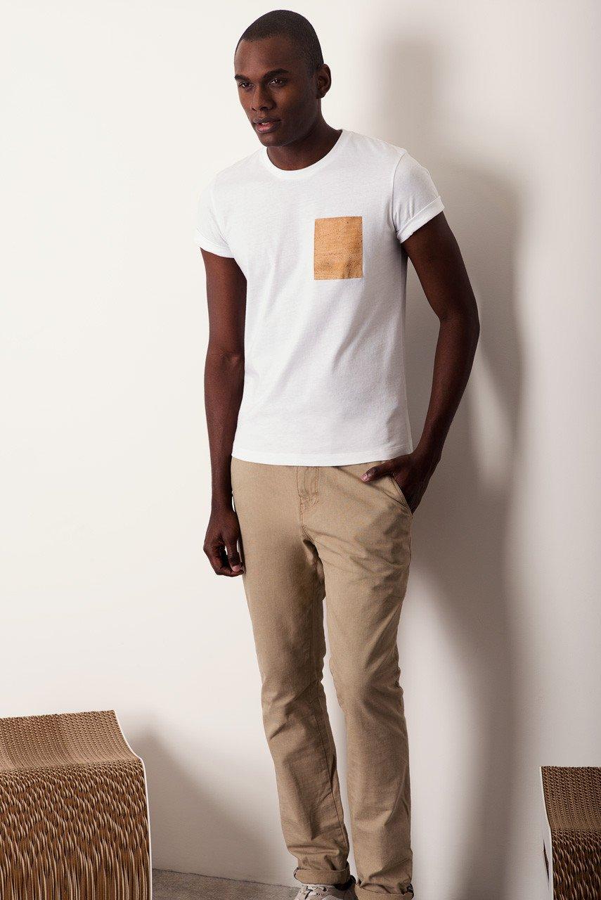 Camiseta Pocket blanca por Basus
