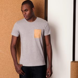 "Camiseta ""Pocket"" gris por BASUS"