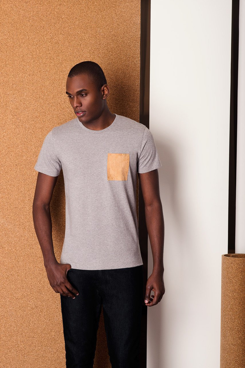 Tee-Shirt Pocket Gris par BASUS