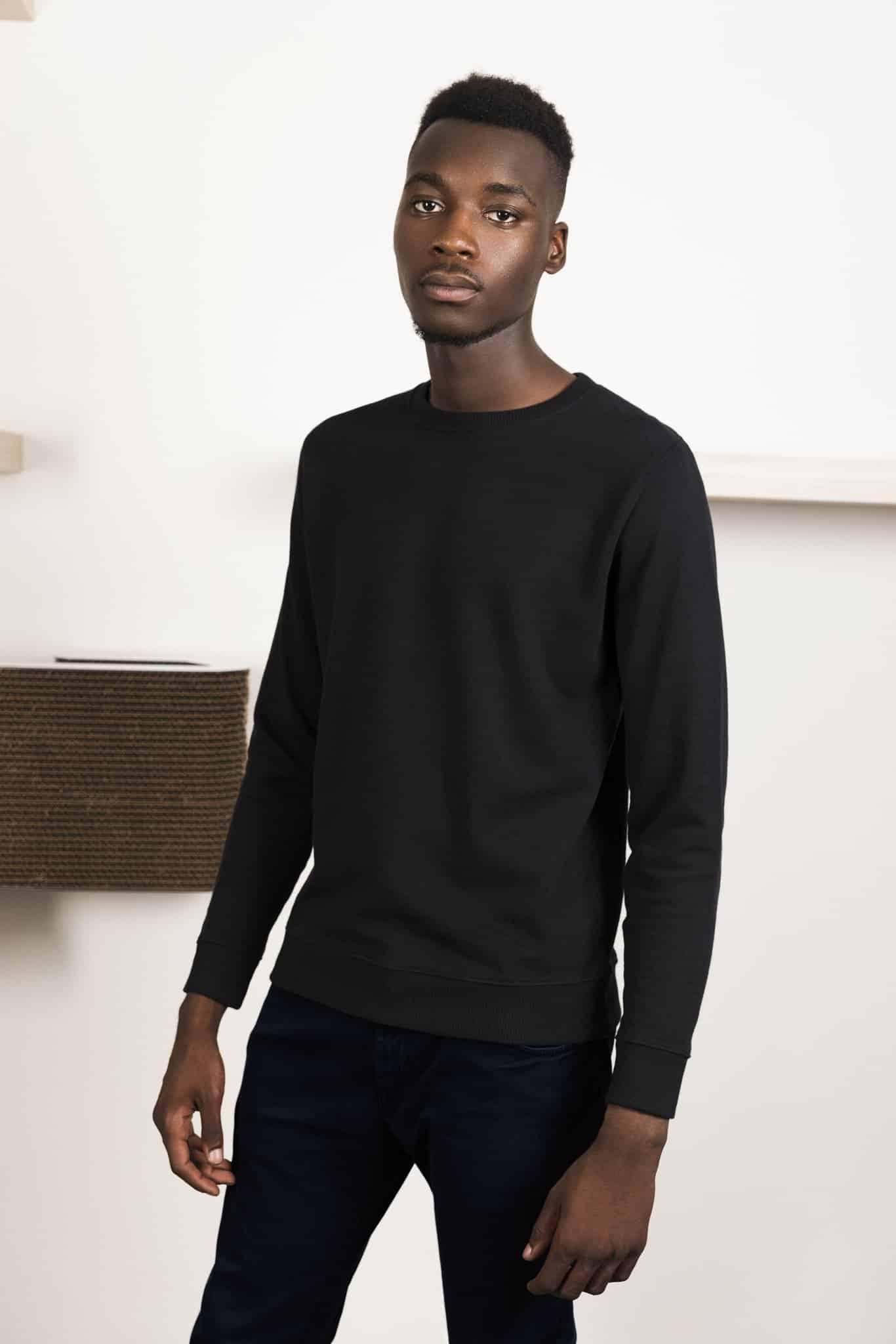 sudadera negro moda ropa hombre basus corcho negro district black