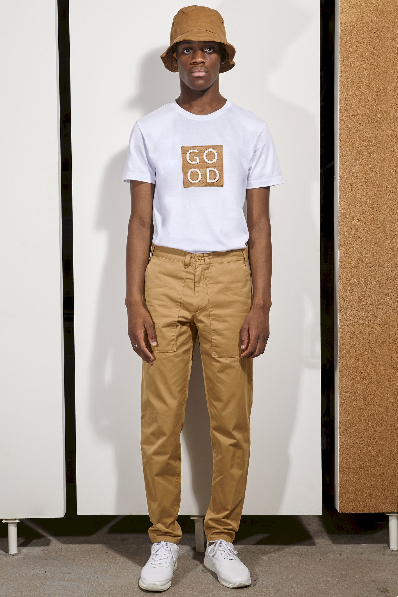 t-shirt cork good basus white coton