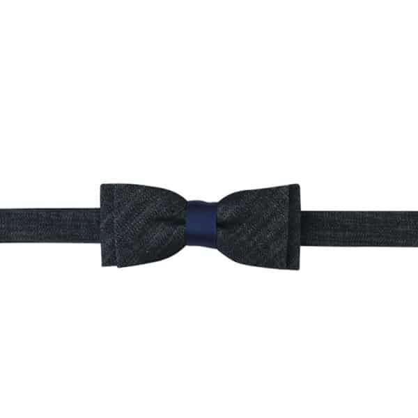 Bow tie Fun blue / raw denim by Hacter