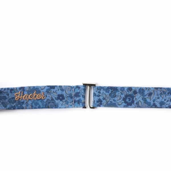 Noeud papillon Hacter L'Erudite Concept Store dandy cool blue/floral design