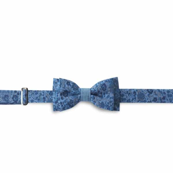 Bow tie fun blue/floral design by HACTER