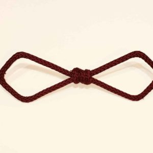 Bow tie diamond burgundy Ndy Creation cord L'Erudite Concept Store