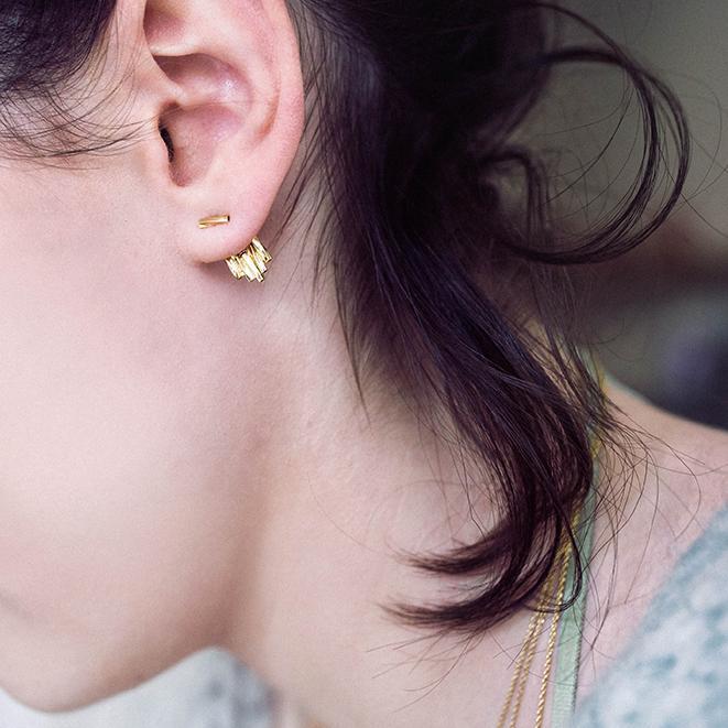 pendientes dorado joyas mujer bdm studio oro fino