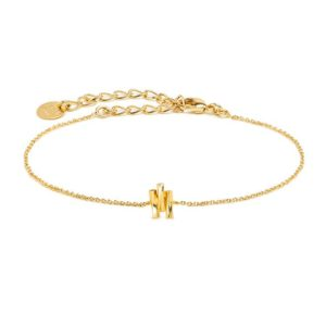 bracelet Aurore BDM STUDIO L'Erudite Concept Store chain gilded with fine gold Adjustable clasp