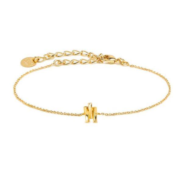 bracelet Aurore BDM STUDIO L'Erudite Concept Store chain gilded with fine gold Adjustable clasp