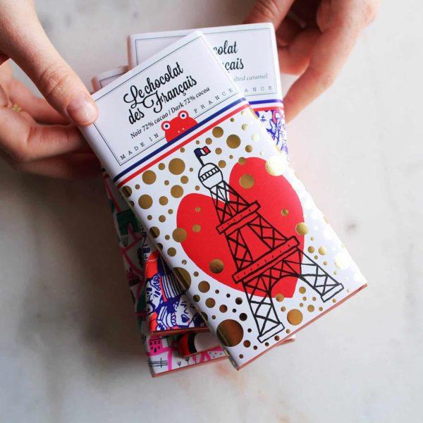 chocolat des français eiffel tower heart