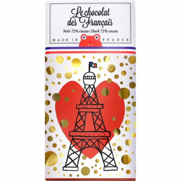 dark chocolate chocolat des français eiffel tower