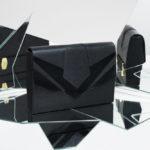 Isadora Limare sac pochette cuir poisson saumon handmade