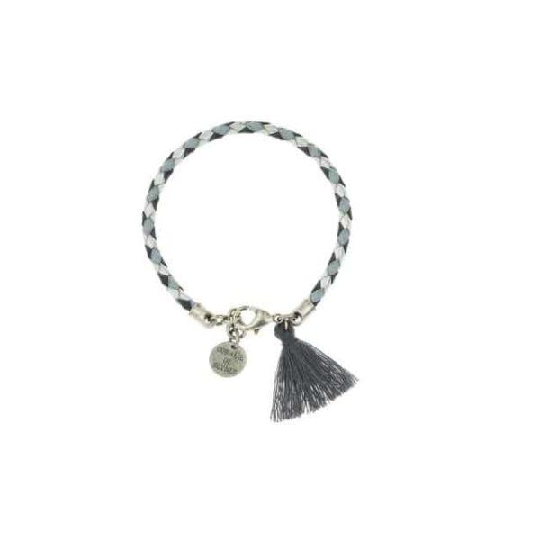 Bracelet Quadri silver plated by Coralie de Seynes