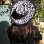 hat minime paris black white panama