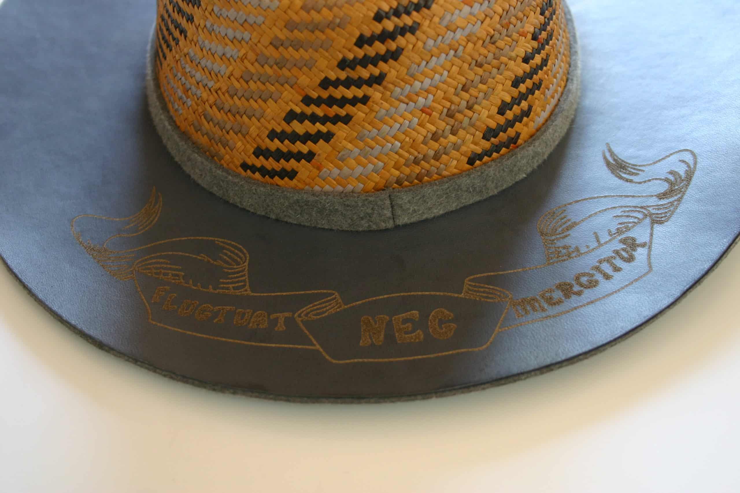 chapeau paris cuir panama feutre paille minime paris fluctuat