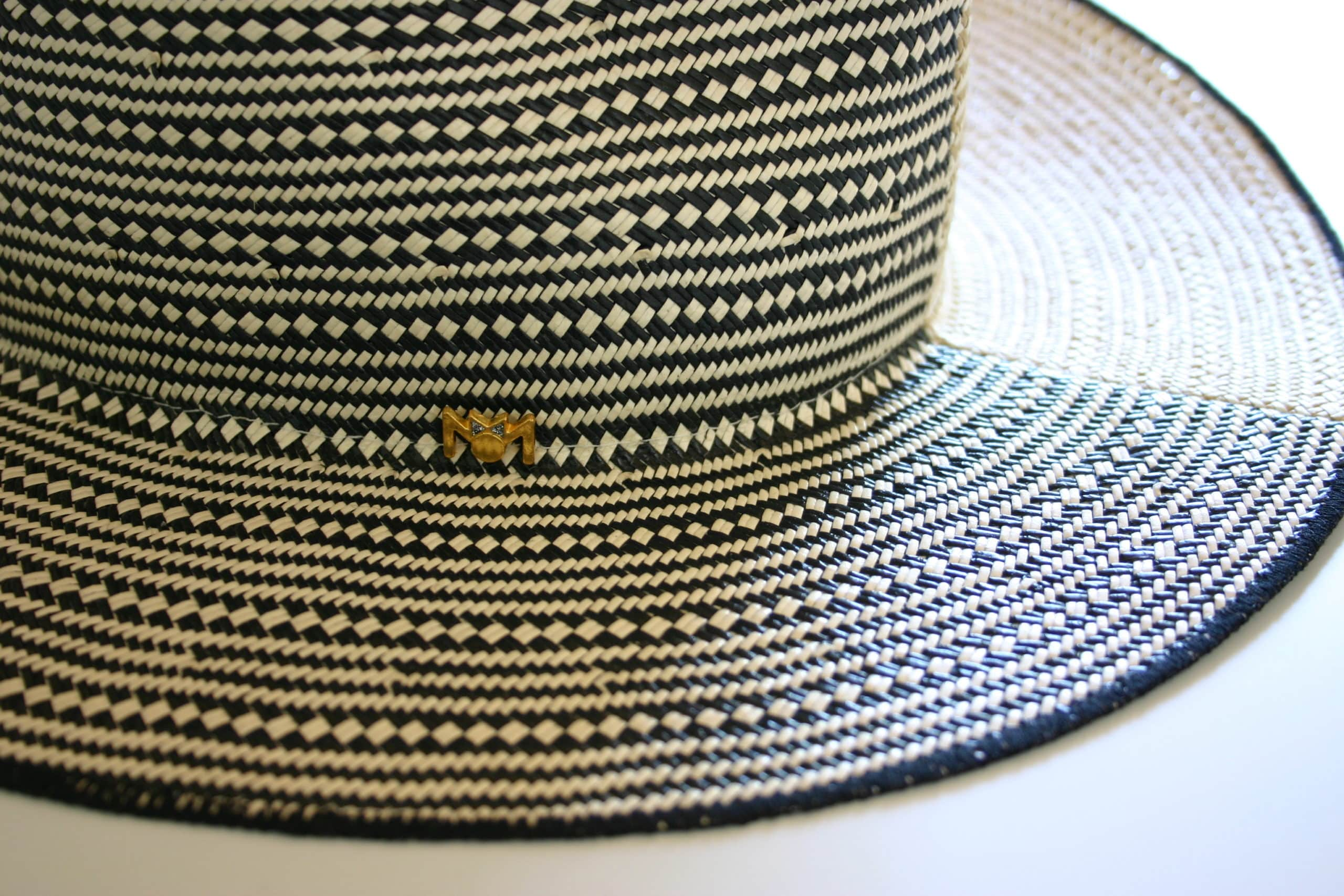 sombrero jack minime paris panama natural hecho a mano gris complementos mujer hombre