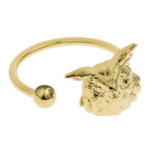 anillo lechuzas hiboux coralie de seynes hecho a mano paris ajustable joyas mujer moda