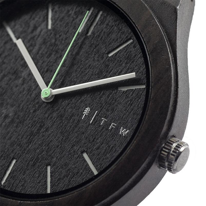 Reloj CEYLIS Cuero negro por TIME FOR WOOD